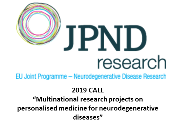 "Announcement CALL JPND:  ""Multinational research projects on personalised medicine for neurodegenerative diseases"""